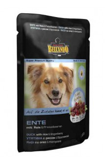 Belcando Ente, паучи с уткой для собак / Bewital Petfood (Германия)