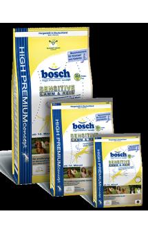Bosch Sensitive Lamb and Rice, корм для чувствительных собак, с Ягненком / Bosch (Германия)