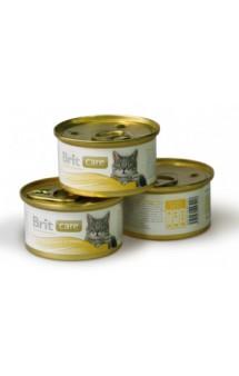 Brit Care Chicken Breast and Cheese, Куриная грудка и сыр, консервы для кошек / Brit (Чехия)