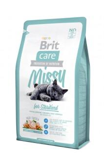 Brit Care Cat Missy, корм для стерилизованных кошек и кастрированных котов / Brit (Чехия)