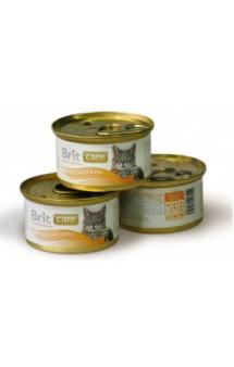 Brit Care Tuna, Carrot and Pea, Тунец, морковь и горошек, консервы для кошек / Brit (Чехия)