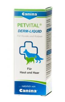 Petvital Derm Liquid Дерм Ликвид, добавка с жирными кислотами, в каплях / Canina (Германия)