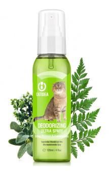 Спрей для кошек, дезодорирующий, зеленый апельсин / Catidea (Китай)