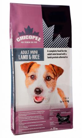 Сухой корм для собак миниатюрных пород с Ягнёнком и Рисом / Chicopee (Канада)