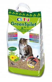 GreenToilet, комкующийся растительный наполнитель / Cliffi (Италия)