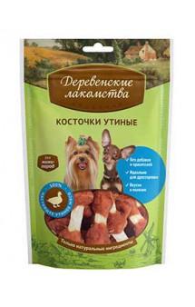 Косточки утиные, лакомство для собак мини-пород / Деревенские лакомства
