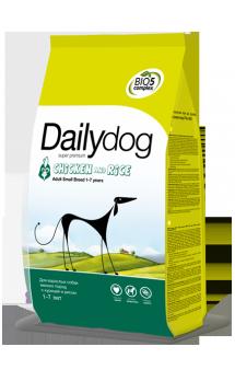 DailyDog Adult Small Breed Chicken and Rice, корм для собак мелких пород с Курицей / DailyPet (Италия)