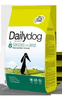 DailyDog Puppy Large Breed Chicken and Rice, корм для щенков крупных пород с Курицей / DailyPet (Италия)