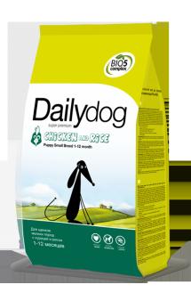 DailyDog Puppy Small Breed Chicken and Rice, корм для щенков мелких пород с Курицей / DailyPet (Италия)