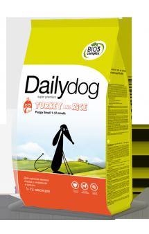 DailyDog Puppy Small Breed Turkey and Rice, корм для щенков мелких пород с Индейкой / DailyPet (Италия)