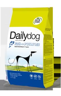 DailyDog Adult Small Breed Fish and Potatoes, корм для собак мелких пород с Рыбой / DailyPet (Италия)