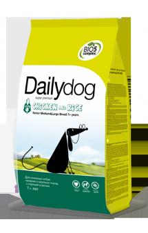 DailyDog Senior Medium, Large Breed Chicken and Rice, корм для пожилых собак средних и крупных пород с Курицей / DailyPet (Италия)