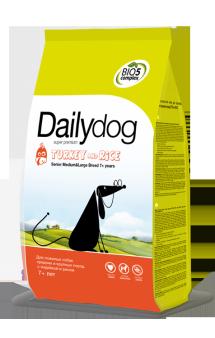 DailyDog Senior Medium,Large Breed Turkey and Rice,корм для пожилых собак средних и крупных пород с Индейкой / DailyPet (Италия)