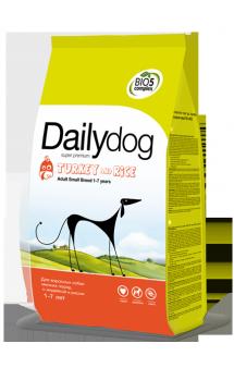 DailyDog Adult Small Breed Turkey and Rice, корм для собак мелких пород с Индейкой / DailyPet (Италия)