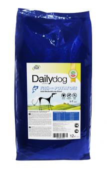DailyDog Adult Medium and Large Breed Fish and Potatoes, корм для собак средних и крупных пород с Рыбой / DailyPet (Италия)