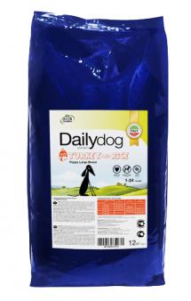 DailyDog Puppy Large Breed Turkey and Rice, корм для щенков крупных пород с Индейкой / DailyPet (Италия)