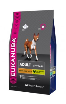 Adult Medium Breed, корм для собак средних пород / Eukanuba (Нидерланды)