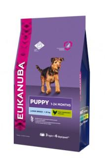 Puppy & Junior Large Breed,корм для щенков крупных пород / Eukanuba (Нидерланды)