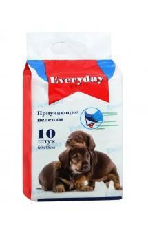 Впитывающие пеленки для животных, приучающие, гелевые, 60х45 см / Everyday (Китай)