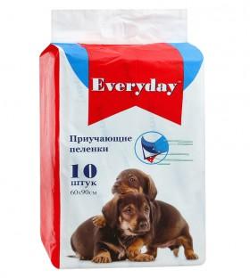 Впитывающие пеленки для животных, приучающие, гелевые,60х90 см / Everyday (Китай)