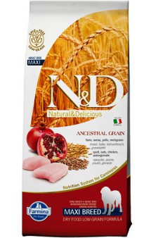 N&D Low Grain Chicken & Pomegranate Adult Maxi,корм для собак крупных пород с Курицей и Гранатом / Farmina (Италия)