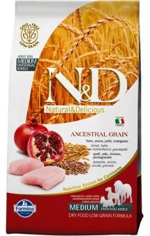 N&D Low Grain Chicken & Pomegranate Adult Medium,корм для собак средних пород с Курицей и Гранатом / Farmina (Италия)