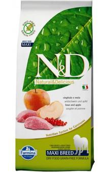 N&D Boar & Apple Adult Maxi,корм для собак крупных пород с мясом Кабана и Яблоком / Farmina (Италия)