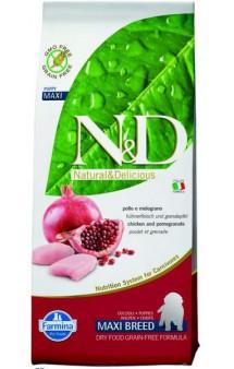 N&D Chicken & Pomegranate Puppy Maxi,корм для щенков крупных пород с Курицей и Гранатом / Farmina (Италия)