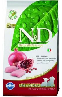 N&D Chicken & Pomegranate Mini & Medium Puppy,корм для щенков мелких и средних пород с Курицей и Гранатом / Farmina (Италия)