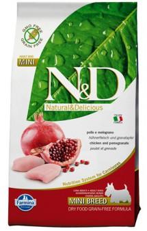 N&D Chicken & Pomegranate Adult Mini,корм для собак мелких пород с Курицей и Гранатом / Farmina (Италия)
