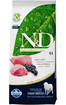 N&D Lamb & Blueberry Adult Maxi,корм для собак крупных пород с Ягненком и Черникой / Farmina (Италия)