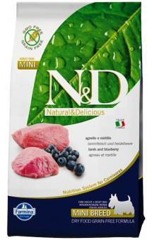 N&D Lamb & Blueberry Adult Mini,корм для собак с Ягненком и Черникой / Farmina (Италия)