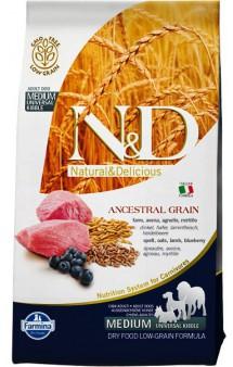 N&D Low Grain Lamb and Blueberry Adult Medium, корм для собак средних пород с Ягненком и Черникой / Farmina (Италия)