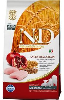 N&D Low Grain Chicken & Pomegranate Puppy Medium,корм для щенков средних пород с Курицей и Гранатом / Farmina (Италия)