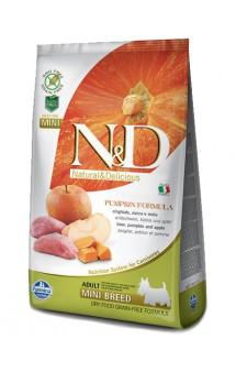N&D Dog GF Pumpkin Boar and Apple Adult Mini, корм для собак мини пород с мясом Кабана, Яблоком и Тыквой / Farmina (Италия)