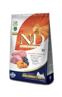 N&D Dog GF Pumpkin Lamb and Blueberry Adult Mini, корм для собак мини пород с Ягненком, Черникой и Тыквой / Farmina (Италия)