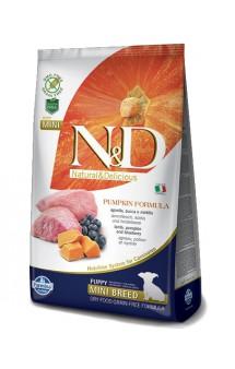 N&D Dog GF Pumpkin Lamb & Blueberry Puppy Mini, корм для щенков мелких пород с Ягненком,Черникой и Тыквой / Farmina (Италия)