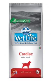 Vet Life Dog Cardiac,диета для собак при хронической сердечной недостаточности / Farmina (Италия)