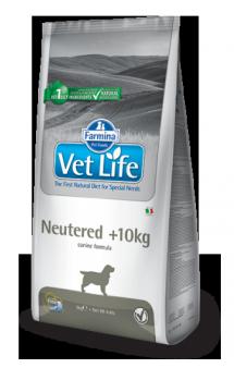 Vet Life Dog Neutered, диета для кастрированных или стерилизованных собак весом более 10 кг / Farmina (Италия)