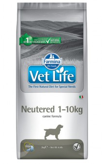 Vet Life Dog Neutered, диета для кастрированных или стерилизованных собак до 10 кг / Farmina (Италия)