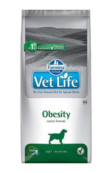 Vet Life Dog Obesity, диета для собак при ожирении, подходит для стерилизованных животных / Farmina (Италия)