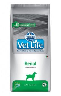 Vet Life Dog Renal, диета для собак при заболеваниях почек / Farmina (Италия)