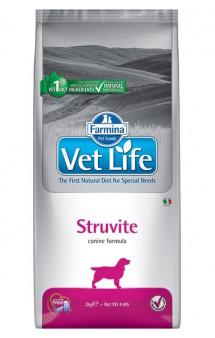 Vet Life Dog Struvite, диета для собак при лечении МКБ / Farmina (Италия)