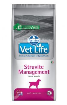 Vet Life Dog Struvite Management, диета для собак при лечении уролитов / Farmina (Италия)