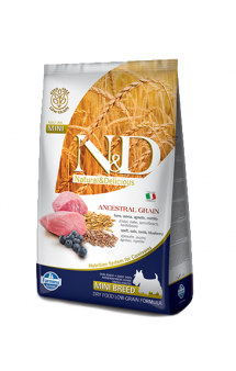 N&D Low Grain Dog Lamb and Blueberry Puppy Mini, корм для щенков мелких пород с Ягненком и Черникой / Farmina (Италия)