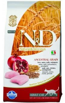 N&D Low Grain Cat Chicken & Pomegranate,корм для кошек с Курицей и Гранатом /  Farmina (Италия)