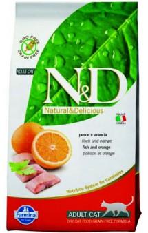 N&D Cat Fish & Orange Adult,корм для кошек с Рыбой и Апельсином /  Farmina (Италия)