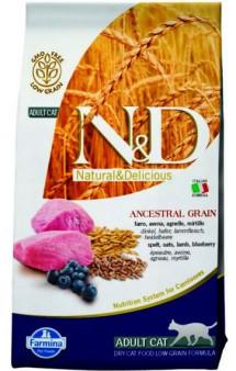 N&D Low Grain Cat Lamb and Blueberry, корм для кошек с Ягненком и Черникой / Farmina (Италия)