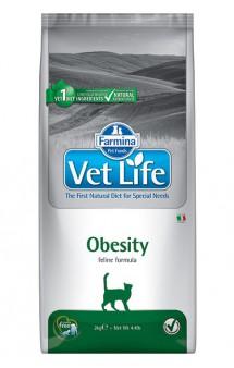 Vet Life Cat Obesity, диета для кошек для снижения излишнего веса / Farmina (Италия)