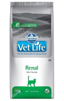 Vet Life Cat Renal, диета для кошек при почечной недостаточности / Farmina (Италия)